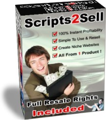 Product picture Scripts2Sell - Resell Rights - Scripts 2 Sell 100 Profit Pulling Kit Gives Everyone The Power To Create Niche Websites NICHE SITE BUILDER COLLECTION