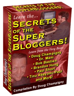 Product picture Secrets of the Super Bloggers! - MASTER RESALE RIGHTS The Largest Collection of E-books, Reports and Resources on Blogging Available Online
